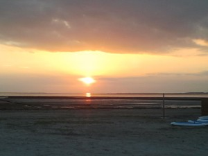 Sonnenuntergang in Bensersiel